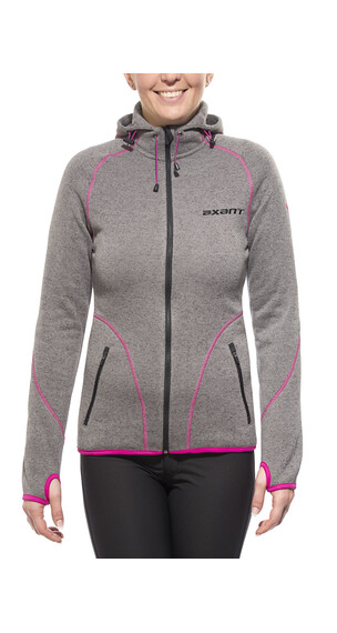 axant Anden Fleece Jacket Women stone grey/fuchsia red